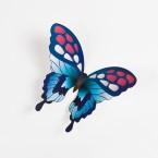 Wandtattoo 3D - Schmetterlinge - Blautöne