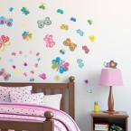 Wandsticker Mega Set - süße Schmetterlinge