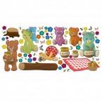 Wandsticker Set XL - Teddybären Picknick