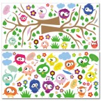 Crazy-Birds-Wandsticker-Mega-Set