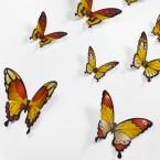Wandtattoo 3D - Schmetterlinge - Gelbtöne