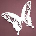 Wandtattoo 3D - Schmetterlinge weiß mit Muster + 12er Set
