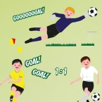 Wandsticker Set A4 - Fußball WM