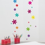 Wandsticker Set A4 - bunte Blumen Design 2