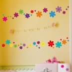 Wandsticker Set A4 - bunte Blumen Design 3
