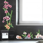 Wandsticker Set XL - Bunte Orchideen