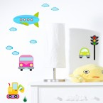 Wandsticker Set XL - bunte Autowelt