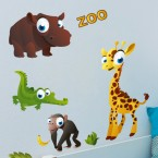 Wandsticker Set XL - Zoo
