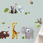 Wandsticker Set A4 - Zoo