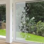 Milchglasfolie - Blumenranke 199 cm Höhe