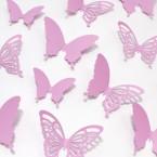 Wandtattoo 3D - Schmetterlinge flieder Set mit Muster