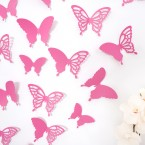 Wandtattoo 3D - Schmetterlinge pink Set mit Muster