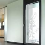 Milchglasfolie - Blumenranke 211 cm Höhe