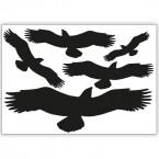Vogelschutzaufkleber kleines Set