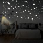 Leuchtaufkleber Weltraum