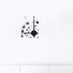 Wandtattoo Uhr - Pusteblume