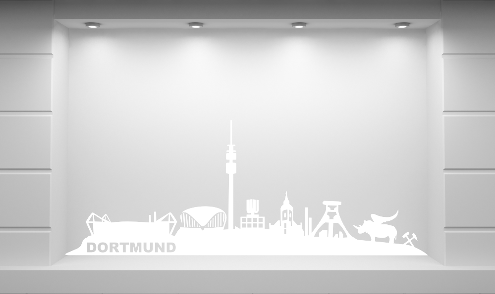 wandkings wandtattoo skyline dortmund ruhrgebiet gr e farbe w hlbar ebay. Black Bedroom Furniture Sets. Home Design Ideas