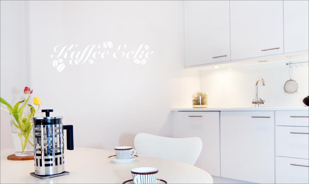 wandkings wandtattoo spruch kaffee ecke k che gr e farbe w hlbar ebay. Black Bedroom Furniture Sets. Home Design Ideas
