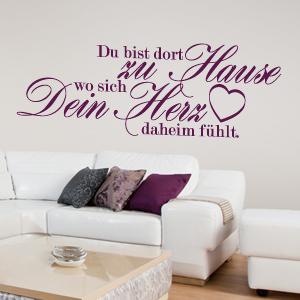wandkings wandtattoo spruch du bist dort zu hause gr e farbe w hlbar ebay. Black Bedroom Furniture Sets. Home Design Ideas
