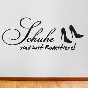 wandkings wandtattoo schuhe sind halt rudeltiere gr e farbe w hlbar ebay. Black Bedroom Furniture Sets. Home Design Ideas