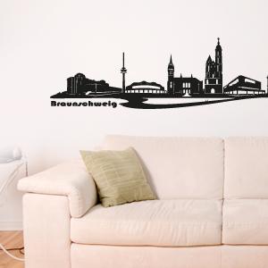 wandkings wandtattoo skyline braunschweig brunswiek gr e farbe w hlbar. Black Bedroom Furniture Sets. Home Design Ideas