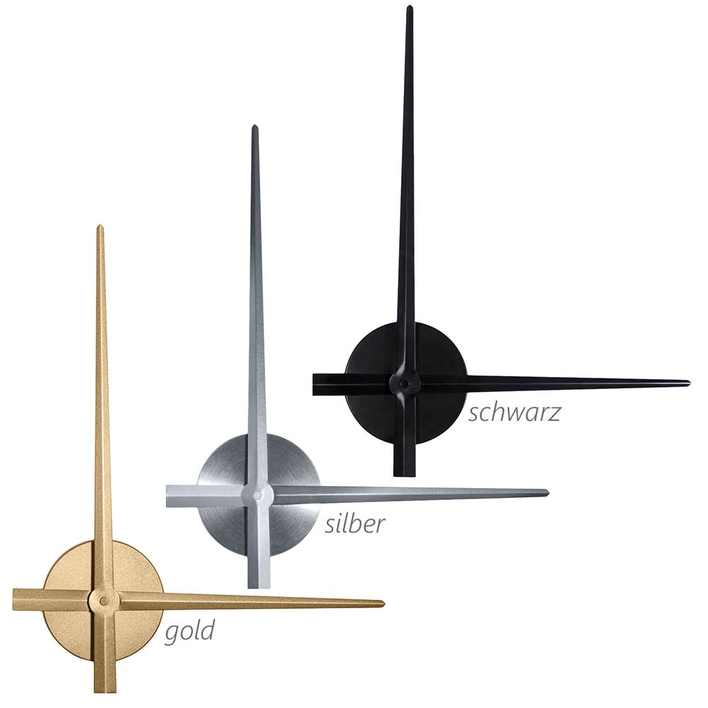 uhrwerk wandkings xl wanduhr mit extra gro en uhrzeigern ebay. Black Bedroom Furniture Sets. Home Design Ideas
