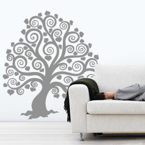 wandtattoo baum mit herzbl ttern herz wandsticker wandaufkleber herzbaum ebay. Black Bedroom Furniture Sets. Home Design Ideas