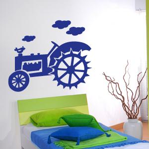 wandkings wandtattoo traktor hahn bauernhof trecker gr e farbe w hlbar ebay. Black Bedroom Furniture Sets. Home Design Ideas