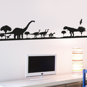 Wandkings wandtattoo dinosaurier urzeit silhouette gr e - Wandtattoo dinosaurier ...