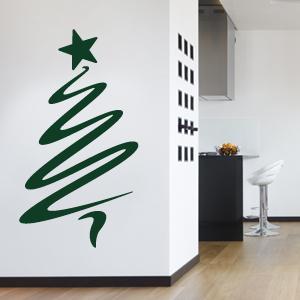 Wandtattoo weihnachtsbaum weihnachten b ume wandsticker wandaufkleber ebay - Weihnachtsbaum wand ...