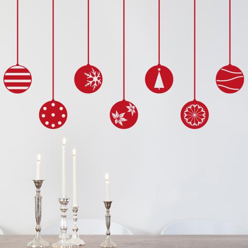 Wandtattoo Set Weihnachtskugeln Weihnachten X Mas
