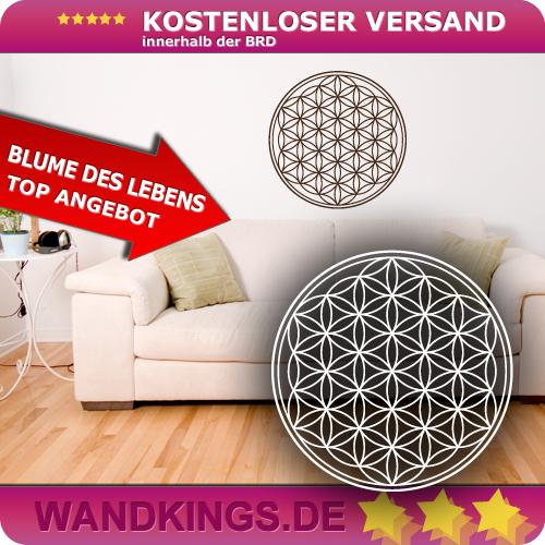 WANDKINGS-Wandtattoo-Blume-des-Lebens-Geometrie-Groesse-Farbe-waehlbar