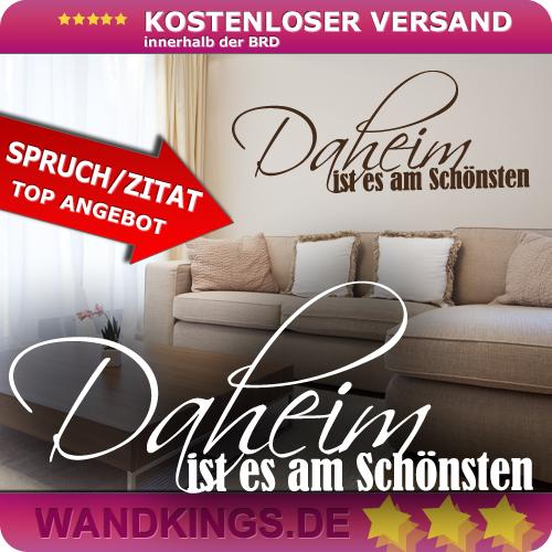 wandkings wandtattoo daheim ist es am sch nsten gr e farbe w hlbar ebay. Black Bedroom Furniture Sets. Home Design Ideas