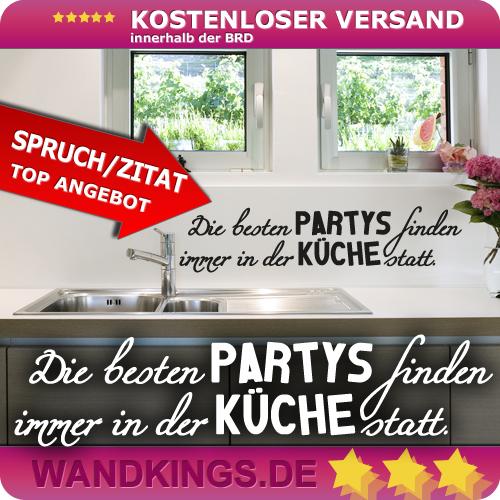 WANDKINGS-Wandtattoo-Spruch-Die-besten-Partys-Kueche-Groesse-Farbe-waehlbar
