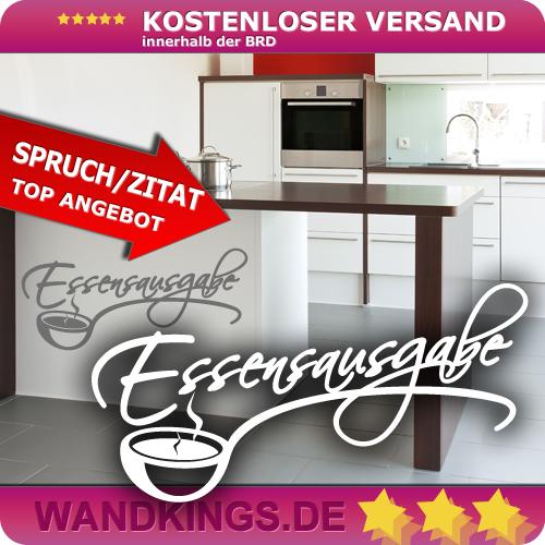 WANDKINGS-Wandtattoo-Spruch-Essensausgabe-Kochloeffel-Groesse-Farbe-waehlbar