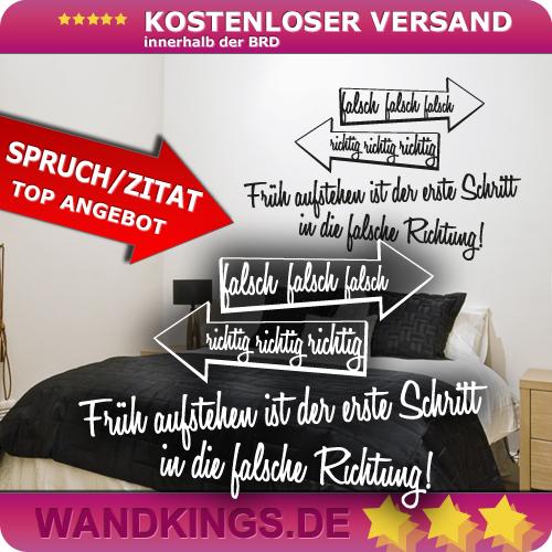 WANDKINGS-Wandtattoo-Spruch-Frueh-aufstehen-ist-der-Groesse-Farbe-waehlbar