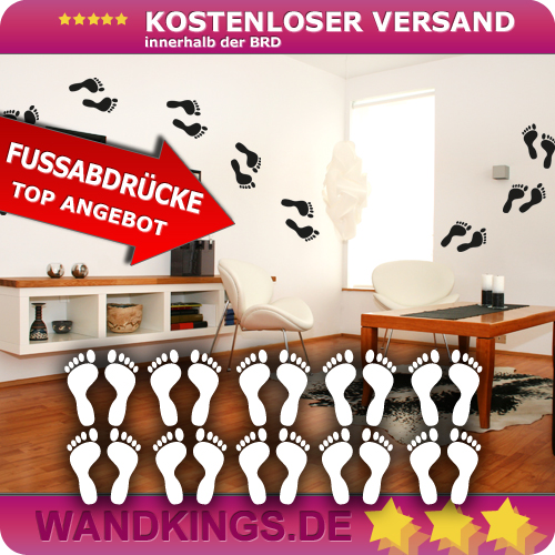 WANDKINGS-Wandtattoo-Set-Fuesse-Fussabdruecke-Groesse-Farbe-waehlbar