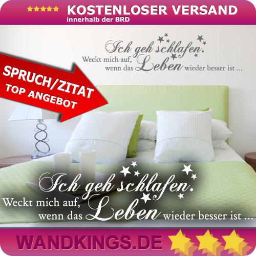WANDKINGS-Wandtattoo-Spruch-Ich-geh-schlafen-Groesse-Farbe-waehlbar