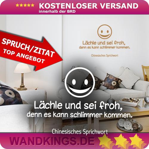 WANDKINGS-Wandtattoo-Spruch-Laechle-und-sei-froh-Groesse-Farbe-waehlbar
