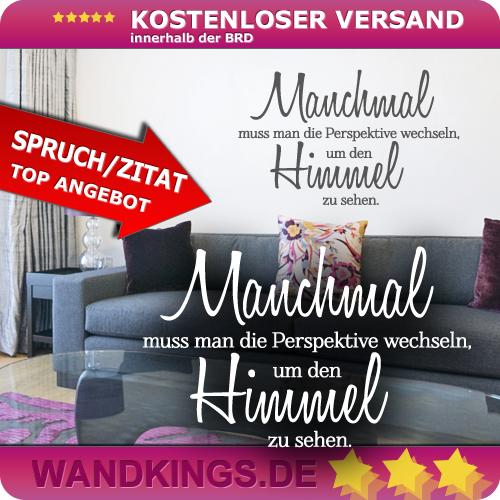 WANDKINGS-Wandtattoo-Manchmal-muss-man-die-Perspektive-Groesse-Farbe-waehlbar