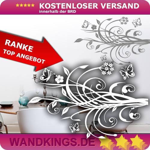 WANDKINGS-Wandtattoo-Ranke-des-Lebens-Blumen-Groesse-Farbe-waehlbar