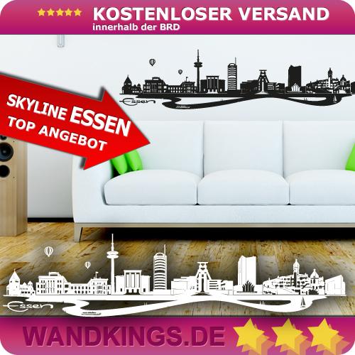WANDKINGS-Wandtattoo-Skyline-Essen-Groesse-Farbe-waehlbar