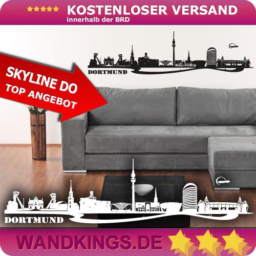 WANDKINGS-Wandtattoo-Skyline-Dortmund-Ruhrgebiet-Groesse-Farbe-waehlbar