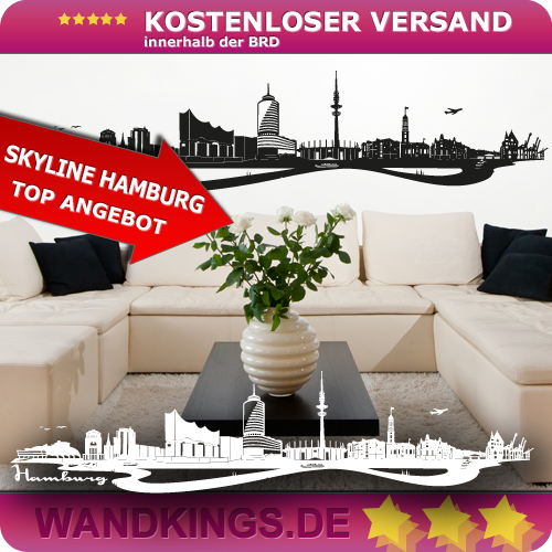 WANDKINGS-Wandtattoo-Skyline-Hamburg-Groesse-Farbe-waehlbar