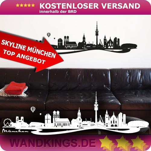 WANDKINGS-Wandtattoo-Skyline-Muenchen-Bayern-Groesse-Farbe-waehlbar