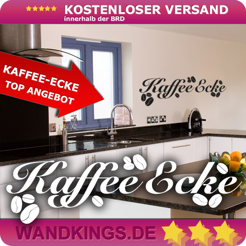 wandkings wandtattoo spruch kaffee ecke k che gr e farbe w hlbar. Black Bedroom Furniture Sets. Home Design Ideas