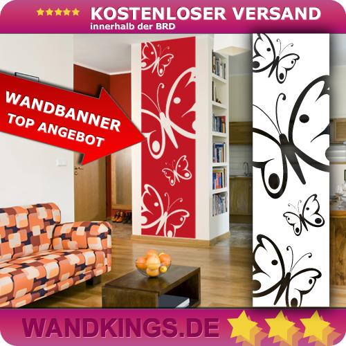 WANDKINGS-Wandtattoo-Wandbanner-Schmetterlinge-Groesse-Farbe-waehlbar