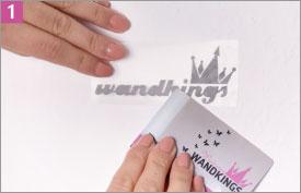 Wandkings Wandtattoo Verklebeanleitung