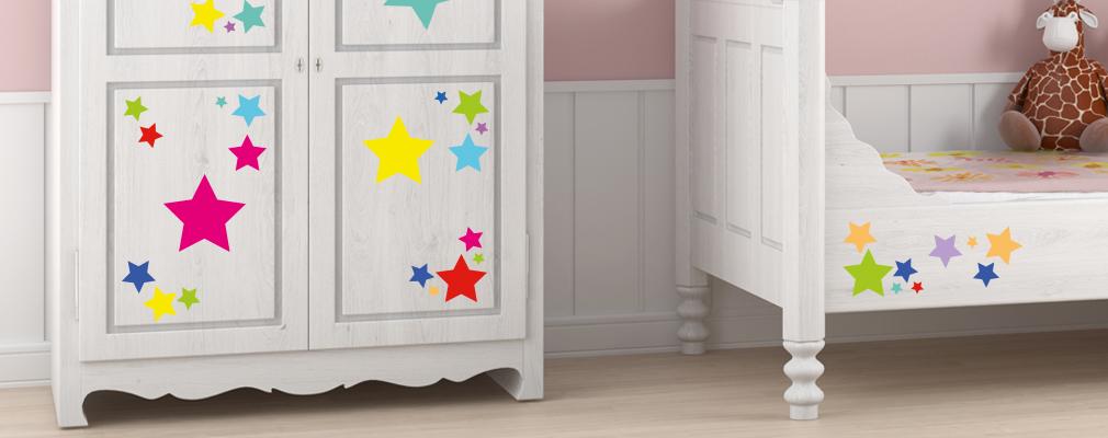 Wandsticker auch für Möbel