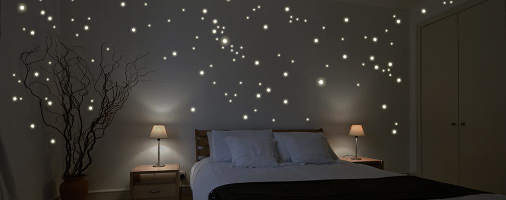 Sternenhimmel aus leuchtaufklebern - Led leinwand selber bauen ...